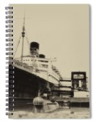 Morning Fog Russian Sub And Queen Mary Heirloom Spiral Notebook