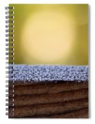Morning Frost Abstract Spiral Notebook