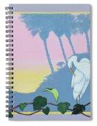 Morning Heron Spiral Notebook