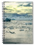 Morning Ice Flow Spiral Notebook