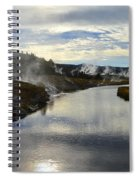 Morning In Upper Geyser Basin In Yellowstone National Park Spiral Notebook