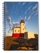Morning Light At Coquille River Lighthouse Spiral Notebook