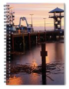 Morning Light At Port Angeles Spiral Notebook