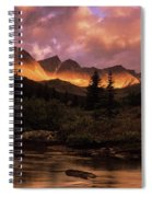 Morning Light Maligne Pass Spiral Notebook