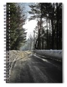 Morning Light On The Road Spiral Notebook