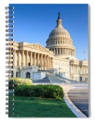 Powerful - Washington Dc Morning Light On Us Capitol Spiral Notebook