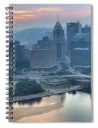 Morning Light Over The City Of Bridges Spiral Notebook