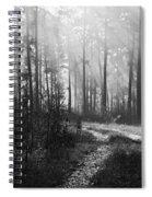 Morning Mist In Monochrome Spiral Notebook