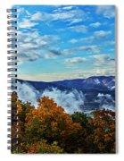 Morning Mist On An Autumn Morning Spiral Notebook