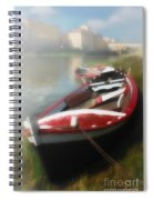 Morning Mist On The Arno River Italy Spiral Notebook