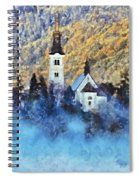 Morning Mist On The Island Spiral Notebook