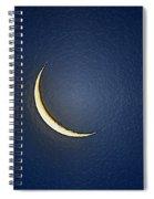 Morning Moon Textured Spiral Notebook