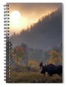 Morning Moose Spiral Notebook