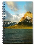 Morning Mountains At Many Glacier Spiral Notebook