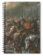 Morning Of The Battle Of Agincourt, 25th October 1415, 1884 Oil On Canvas Spiral Notebook