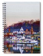 Morning On Boathouse Row Spiral Notebook