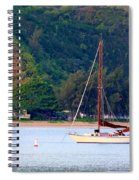 Morning On Hanalei Bay Spiral Notebook