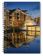 Morning On The Docks Spiral Notebook