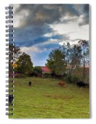 Morning On The Farm Four Spiral Notebook