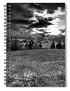 Morning On The Farm Two Bw Spiral Notebook
