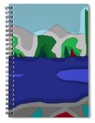Morning On The Fraser River Near Maple Ridge Spiral Notebook