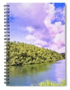 Morning On The Hanalei River Spiral Notebook
