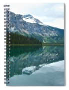 Morning Reflection In Emerald Lake In Yoho National Park-british Columbia-canada Spiral Notebook
