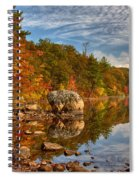Morning Reflection Of Fall Colors Spiral Notebook