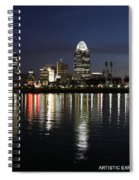 Morning Skyline Wo Bridge I Spiral Notebook