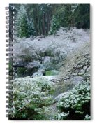 Morning Snow In The Garden Spiral Notebook