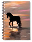 Morning Stroll On The Beach Spiral Notebook