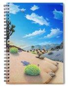 Joshua Tree Morning To Night Spiral Notebook