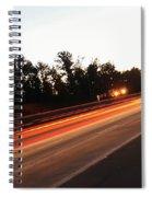 Morning Traffic On Highway Spiral Notebook