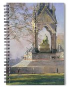 Morning Visitors To The Albert Memorial Oil On Canvas Spiral Notebook