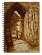 Morning Walk On The Beach Original Coffee Painting Spiral Notebook