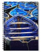 Moroccan Blue Fishing Boats Spiral Notebook