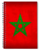 Morocco Flag Vintage Distressed Finish Spiral Notebook