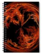 Morphed Art Globe 37 Spiral Notebook