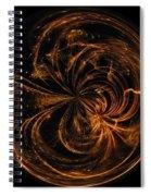 Morphed Art Globe 40 Spiral Notebook