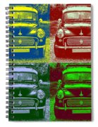 Morris Car In Pop Art Spiral Notebook