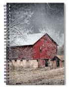 Morris County Red Barn In Snow Spiral Notebook