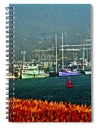 Morro Bay At A Distance Spiral Notebook