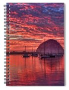 Morro Bay On Fire Spiral Notebook