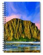 Morro Rock Sunset Spiral Notebook