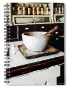 Mortar And Pestle In Apothecary Spiral Notebook
