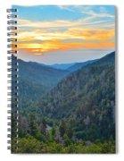 Mortons Overlook Smoky Mountain Sunset Spiral Notebook