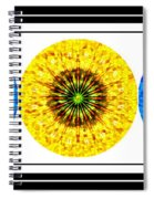 Mosaic Blue Circles With Yellow Spiral Notebook