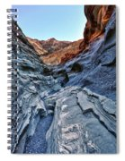 Mosaic Canyon In Death Valley Spiral Notebook