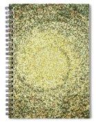Mosaic Galaxy In Gold Spiral Notebook