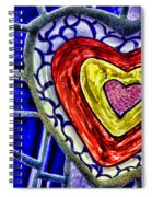 Mosaic Heart By Diana Sainz Spiral Notebook